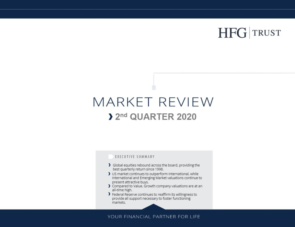 A quarterly market review from HFG Trust for Q2 of 2020